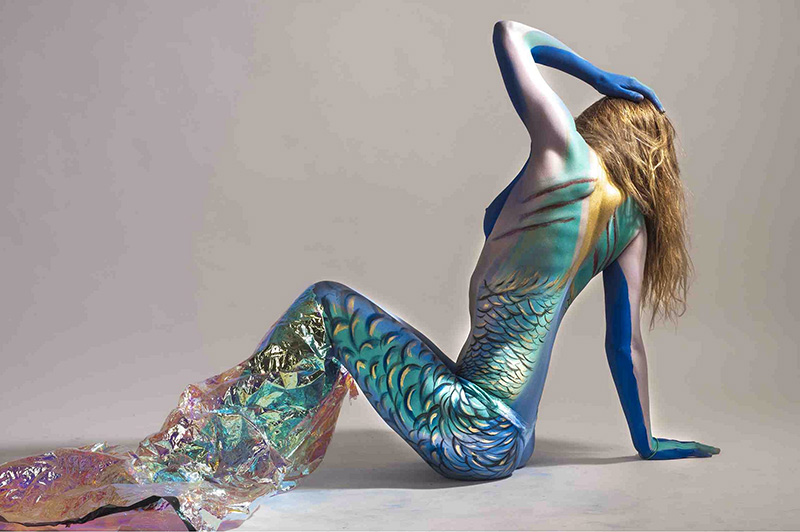 mermaid with ugly scars